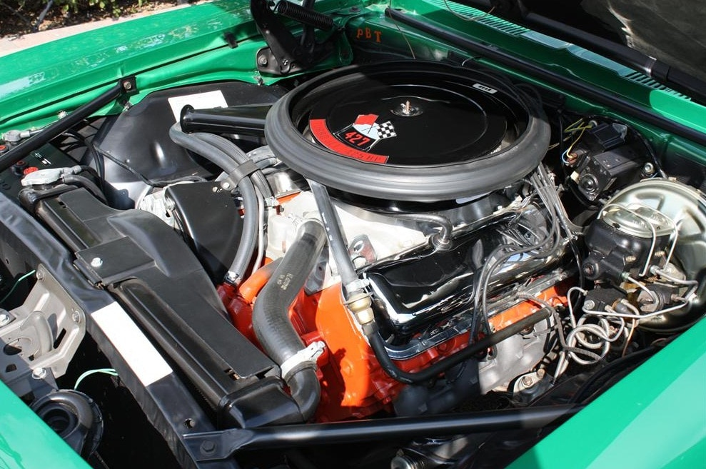1969 Chevrolet Camaro Copo Green Engine