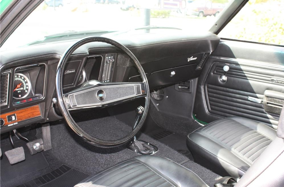 1969 Chevrolet Camaro Copo Green Interior