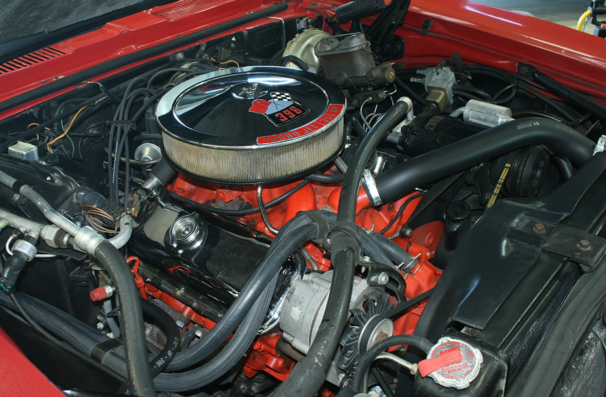 1968 Chevrolet Camaro Ss 396 Turbo Jet Engine Wide