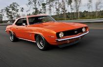 1968 Chevrolet Camaro Orange Front Quarter Buhr