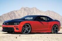 2014 Chevrolet Camaro Ss Red Black Side