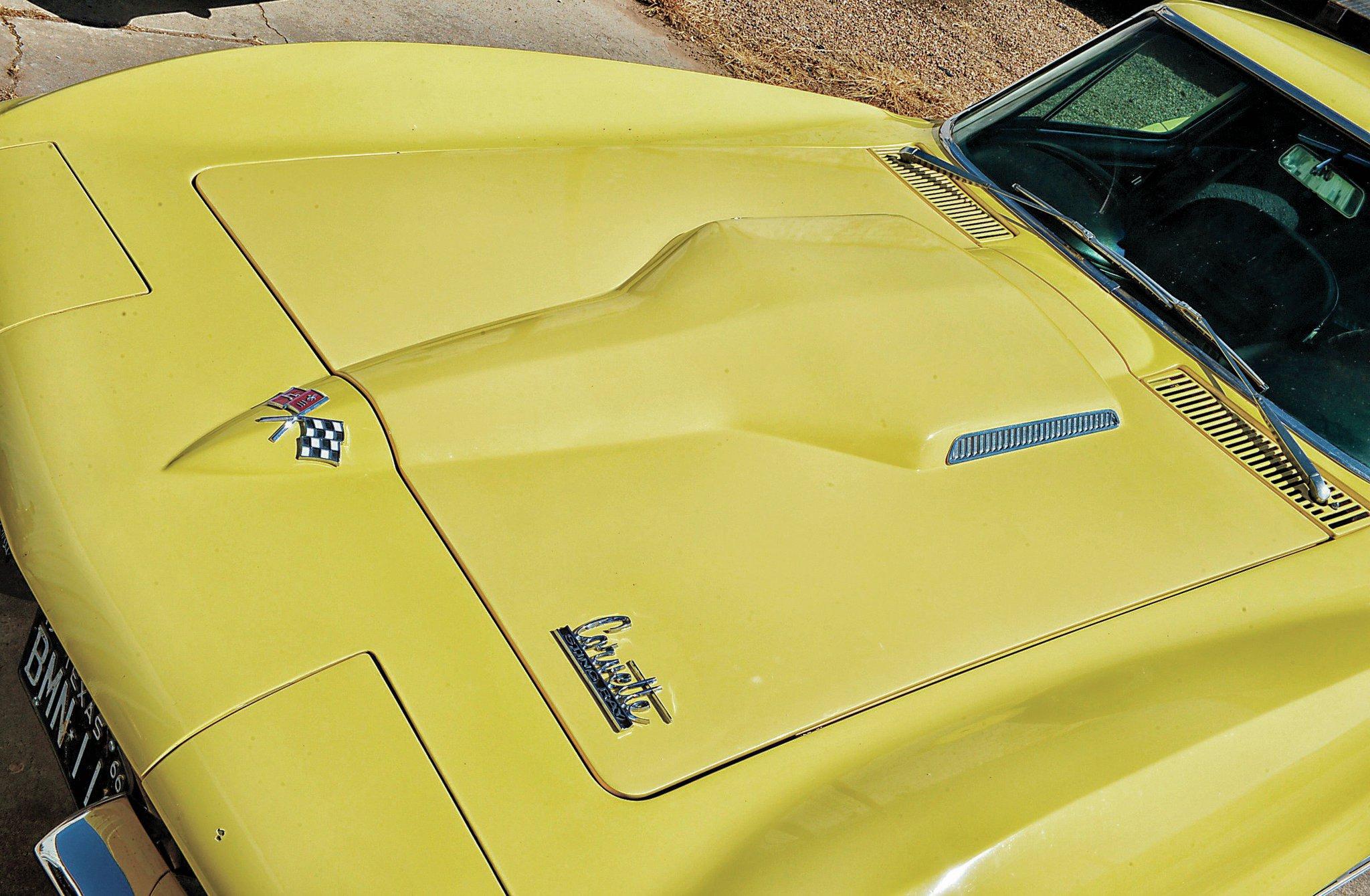 1965-1966 Corvette Left Hand Hood Grille Big Block