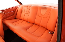 1957 Chevy Bel Air Backseat Orange