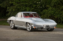 1966 Chevrolet Corvette Silver Front Quarter View