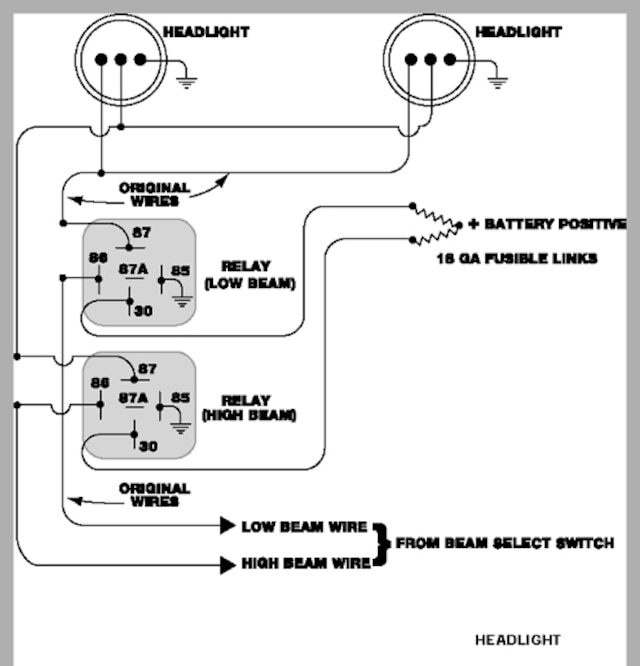 6 volt headlight relay wiring diagram  alfa romeo fuse box
