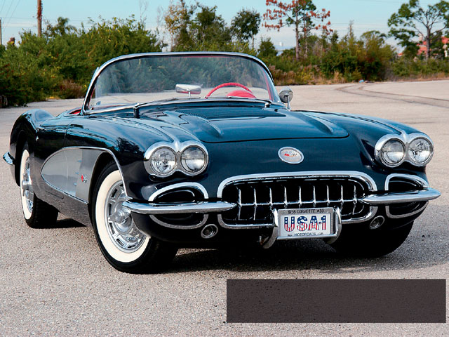 Vemp_0607_01z 1958_corvette_convertible Front_right_view