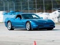Vemp 0708 Pl 2003 Chevrolet Corvette Z06 Front View