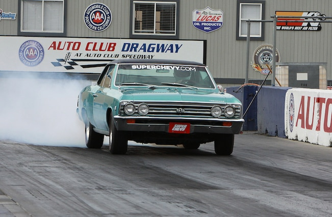1967 Chevrolet Chevelle Amd Ss396 Front View Burnout