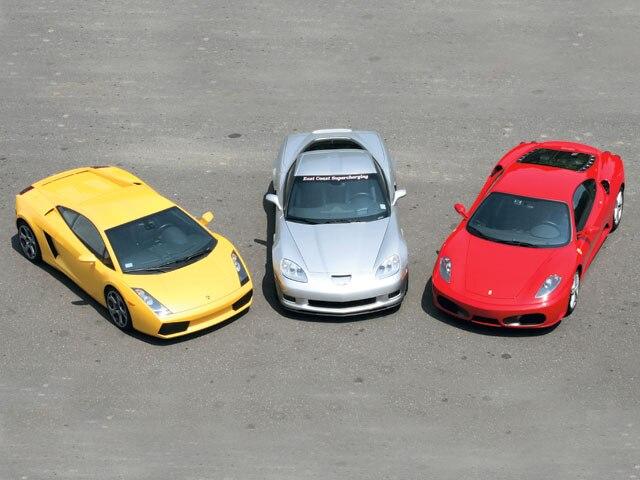 Supercar Comparison Corvette Z06 Vs Ferrari F430 Vs Lamborghini
