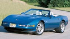 Corp 0401 Pl 1993 Chevrolet Corvette Convertible Front View