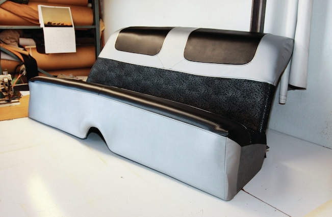 Magnificent How To Re Cover A 1957 Chevrolet 210 Factory Bench Creativecarmelina Interior Chair Design Creativecarmelinacom