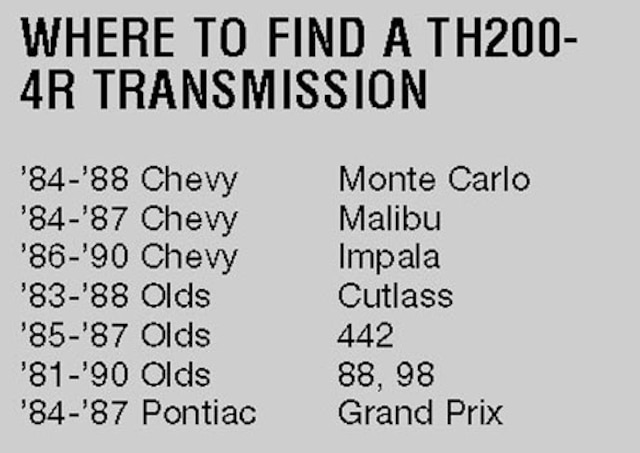 chevrolet transmission swap guide - chevy high performance on 4t80e  transmission diagram, 4t65e transmission diagram