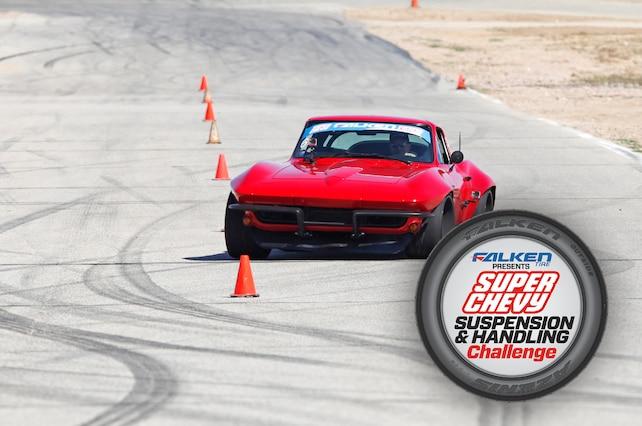 Brian Hobaugh 1965 Corvette Red Falken Rt615k Super Chevy Suspension Challenge Cones