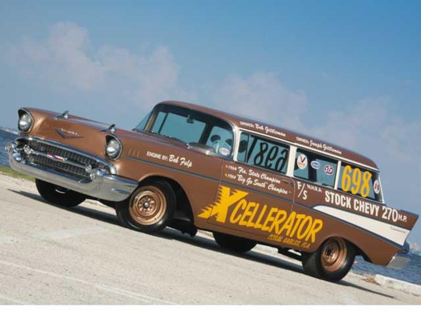 Bob Gittleman S 57 210 2 Door Wagon Drag Race Car Super Chevy Magazine