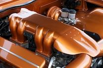 1962 Chevrolet Bel Air Custom Orange Engine Details
