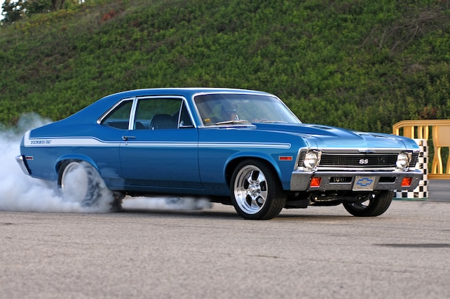 1 1971 Chevy Nova Yenko Tribute Burnout Side