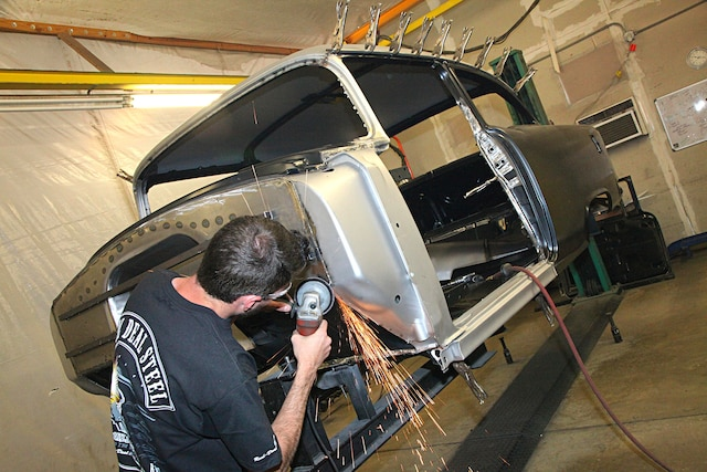 Adding A Slick Firewall And Larger Transmission Tunnel To Our Real Deal Steel 1955 Chevy