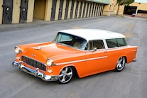 001 1955 Nomad Chevy Chevrolet Orange
