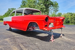 001 1955 Chevy Sedan Real Deal Steel Aacustoms Rm Paint