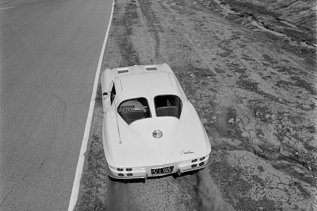 001 Archive 1963 Chevrolet Corvette Coupe Rear Spinning Tires