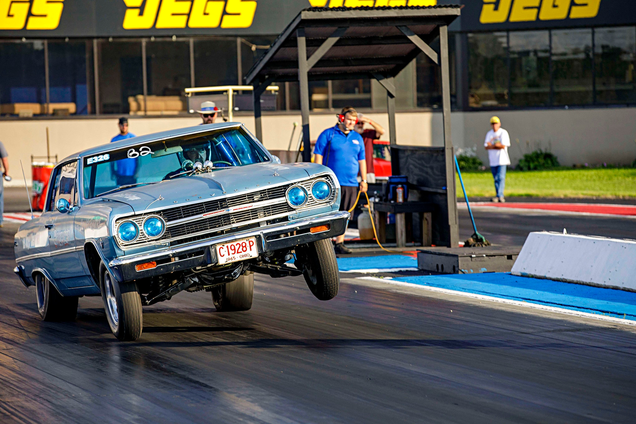 Photo Gallery! Drag racing action from day one of the 2018 Super Chevy Show in Hebron Ohio!