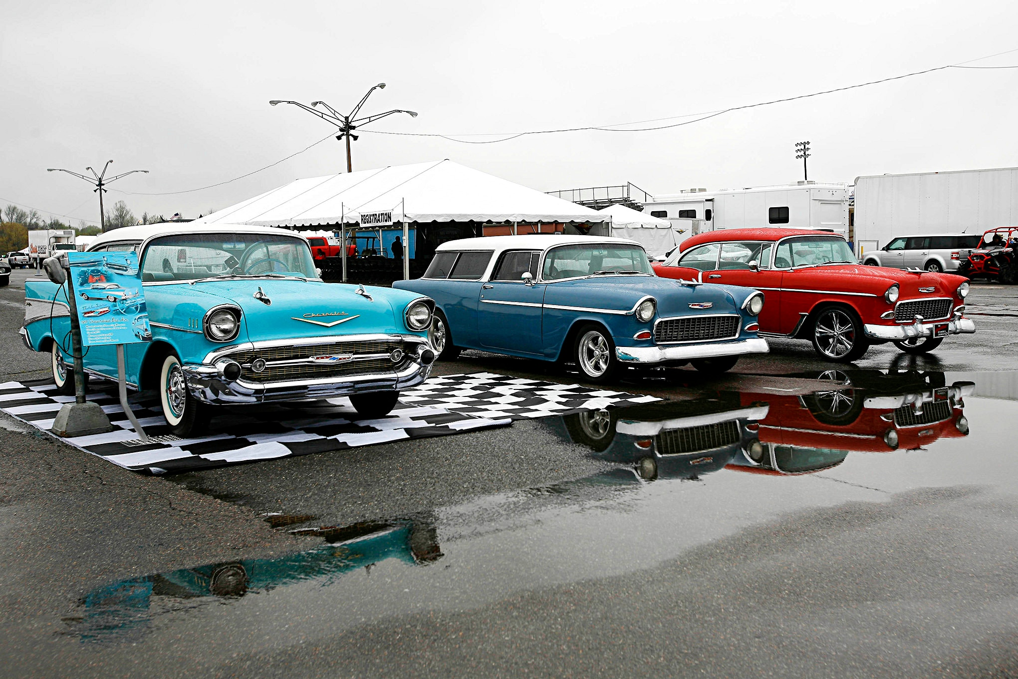 Friday at the 2018 Super Chevy Show Memphis gets Wet and Wild!